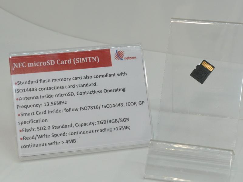 NFC搭載のmicroSDカード。携帯機器のmicroSDカードに取り付けるだけでNFCが利用可能に。2/4/8GBのmicroSDカードとしても利用できる
