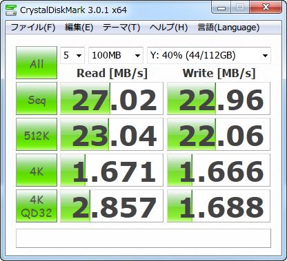 5GHz帯の11n(450Mbps)のベンチマーク結果(非PPPoE接続)