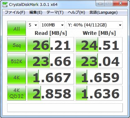 5GHz帯の11n(450Mbps)のベンチマーク結果(PPPoE接続)