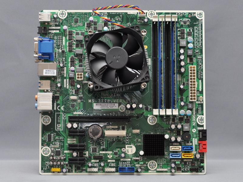 p6-2210jpに採用されているマザーボード。Micro ATX仕様で、チップセットはAMD A75を採用する