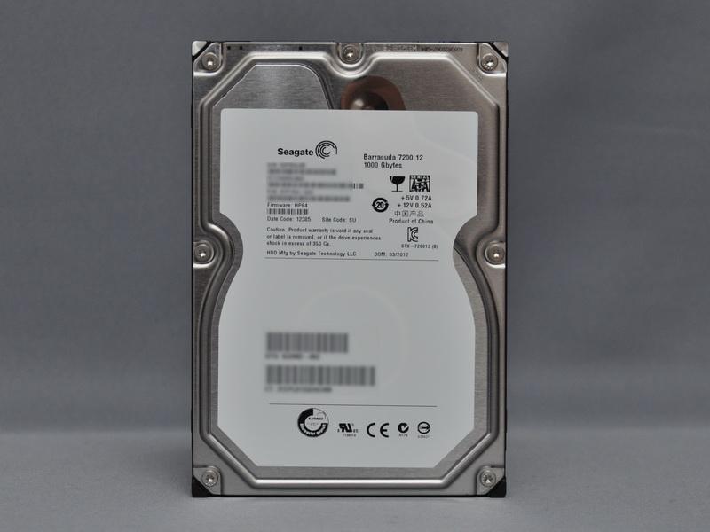 HDDは500GBから3TBまで選択可能
