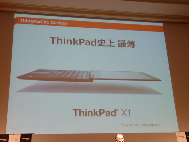 ThinkPad X1 CarbonはThinkPad史上最薄