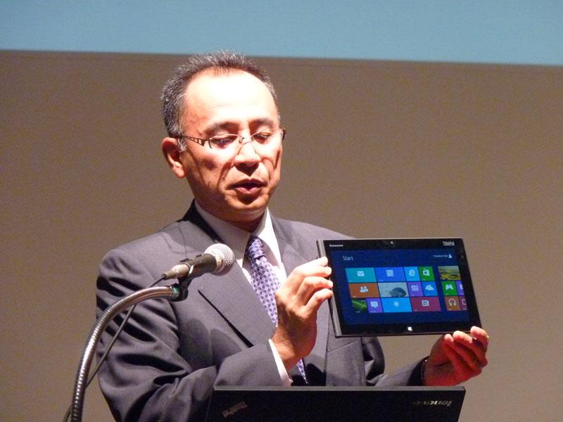 現在開発中のWindows 8搭載の企業向けTablet