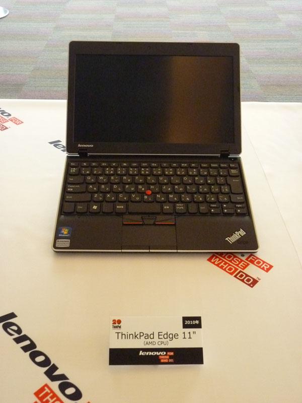 """2010年発売、AMD製CPU搭載のThinkPad Edge 11"""""""