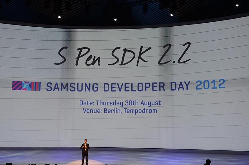 S Pen SDK 2.2をサードパーティに提供。翌日にはデベロッパ向けイベントも開催