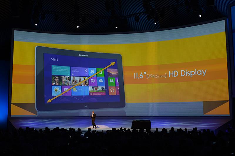 スクリーンサイズは11.6型