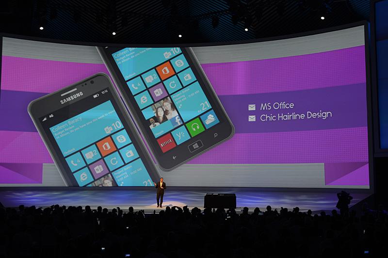 Windows Phone 8端末「ATIV S」の主なスペック。ハンズオン展示はなかった