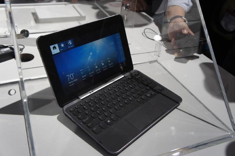 DellのXPS 10は10型タッチパネル液晶を採用したセパレート型ノートPC
