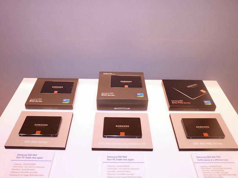 今回発表されたSSD 840シリーズ