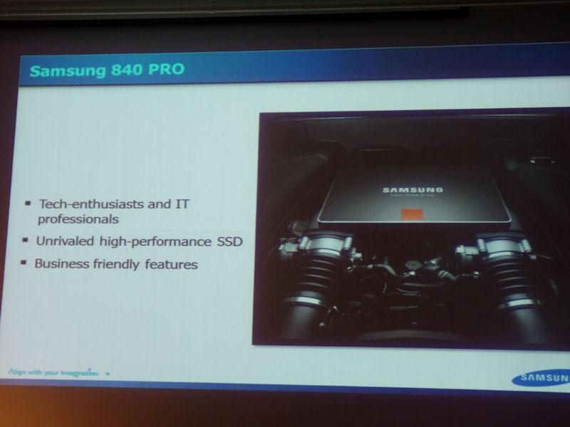 SSD 840 PROの製品コンセプト。エンスージアストやITプロフェッショナル向けの製品であり、非常に高い性能と業務向けの機能を備える