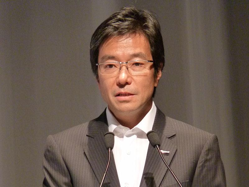 9月に行なわれたLet'snote発表会に登壇した日本マイクロソフトの樋口泰行社長