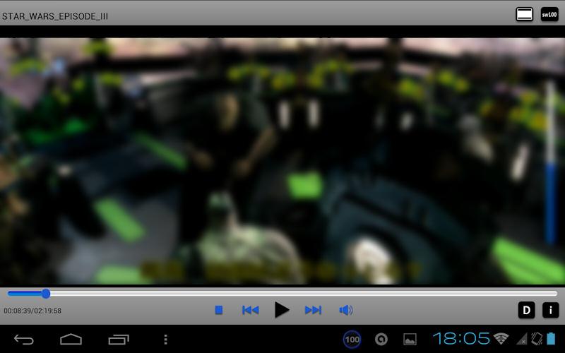 画面をタップすると、コントロールメニューが上下に表示。再度タップか、一定時間放置で消える
