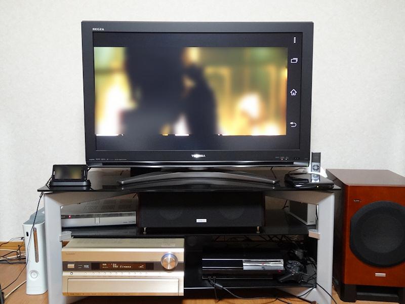 Xperia GXからMHL経由で液晶TVにつないだところ、普通に表示できた