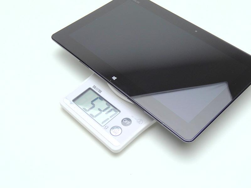 重量は実測で537gと公称よりやや重かった