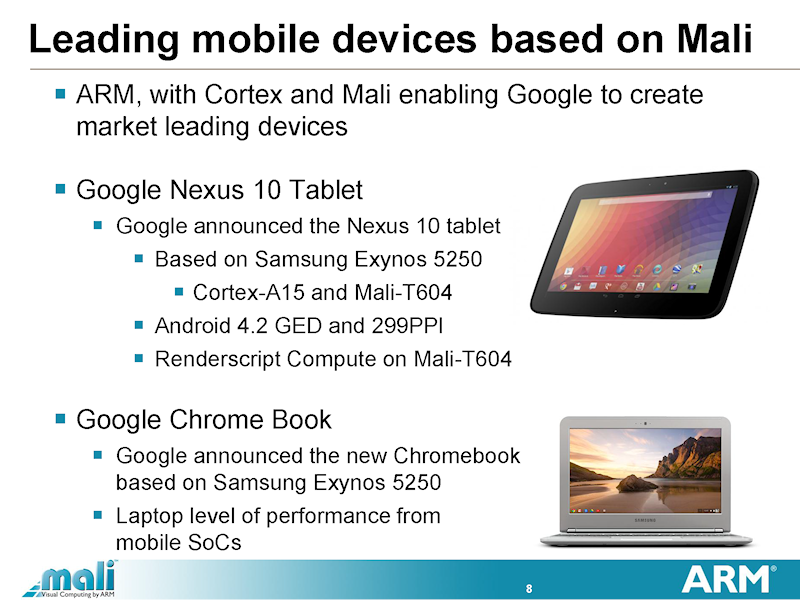 Nexus 10やChrome Bookに採用