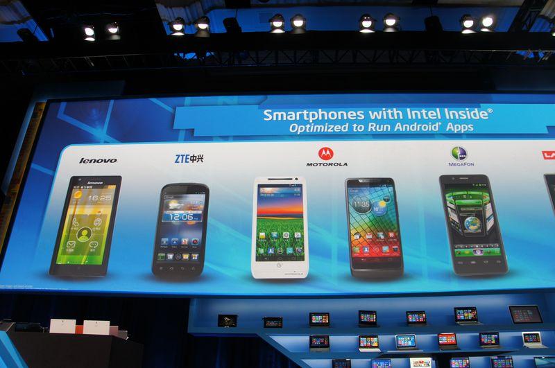 Medfieldベースのスマートフォンを発売したOEMメーカー