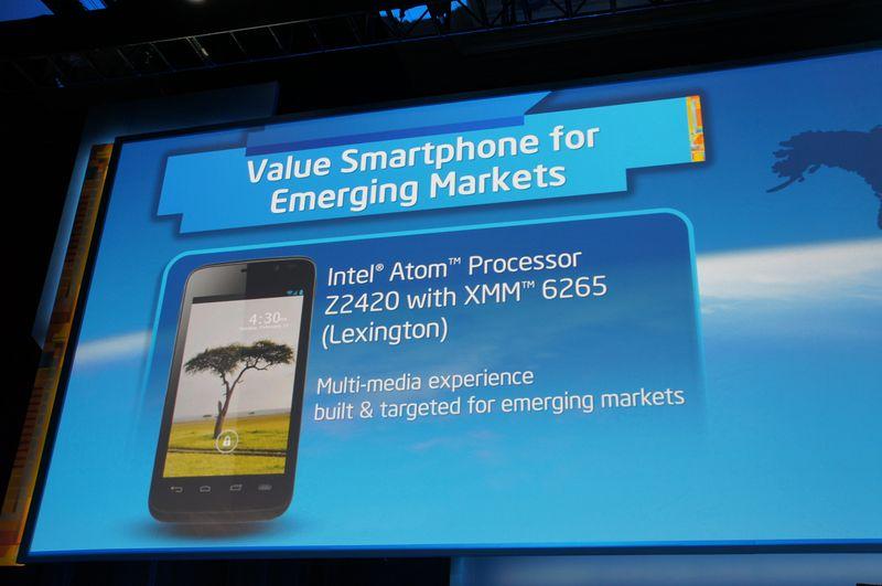 低価格向けとなるLexingtonことAtom Z2420を発表。低価格スマートフォン向け