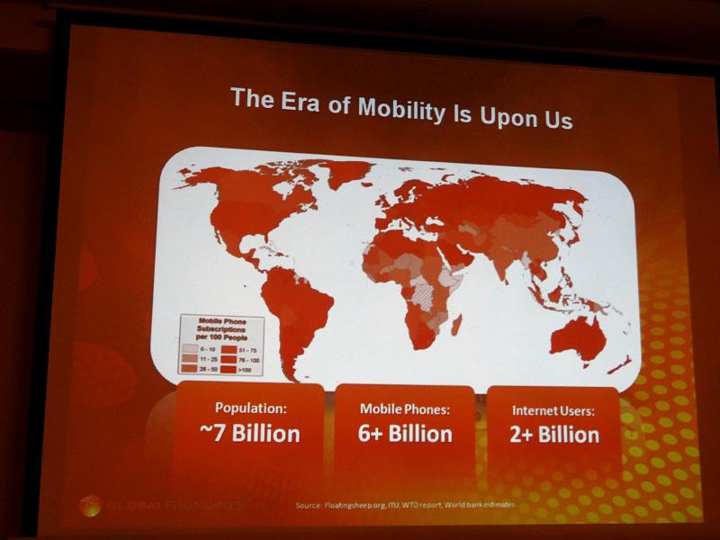 世界の人口と携帯電話の台数、そしてインターネットユーザーの数