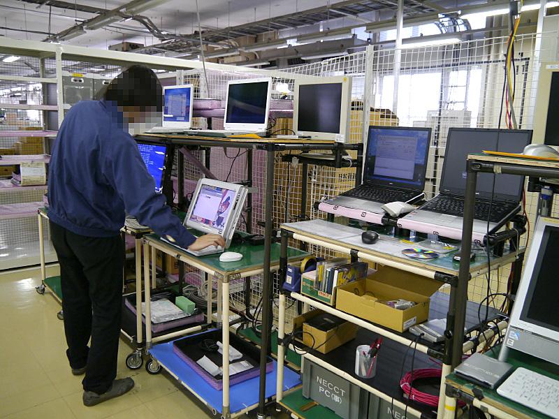 群馬事業場では月50台のNEC Refreshed PCを再生