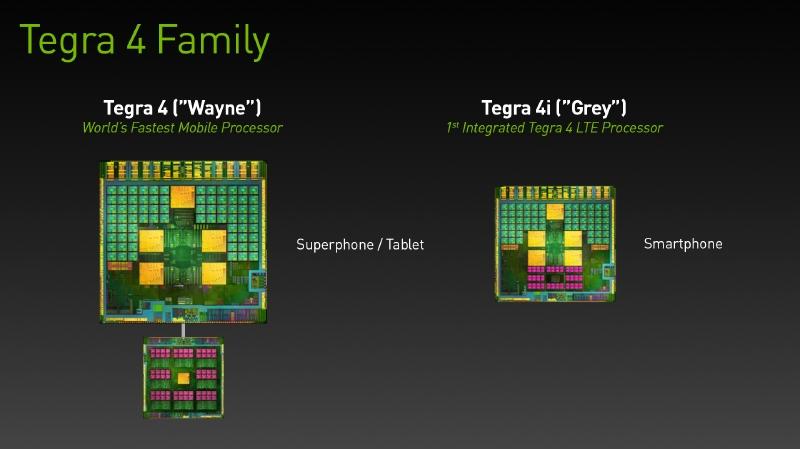 Tegra 4(左)とTegra 4i(右)の比較写真