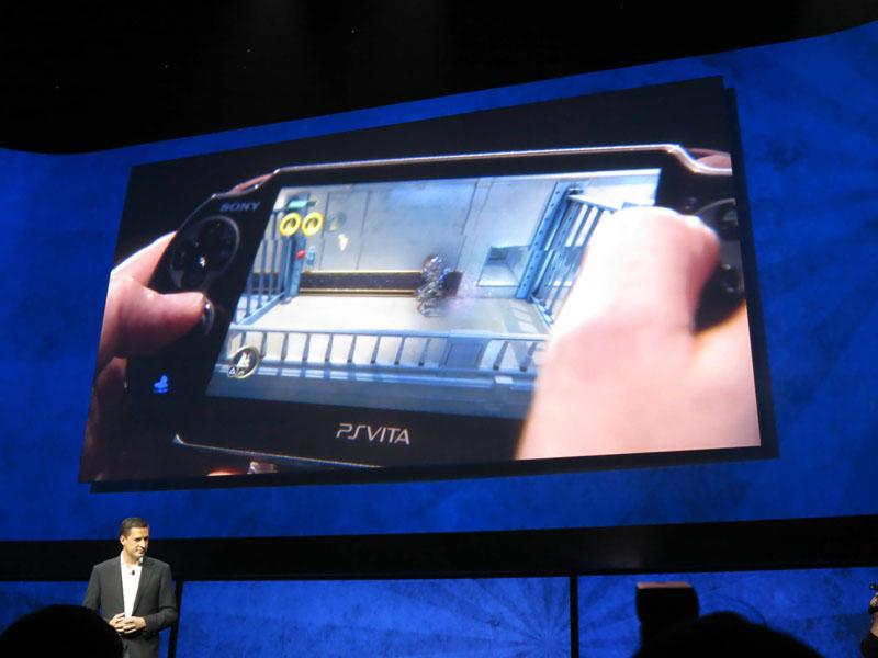 PS VitaによるPS4ゲームのリモートプレイの様子