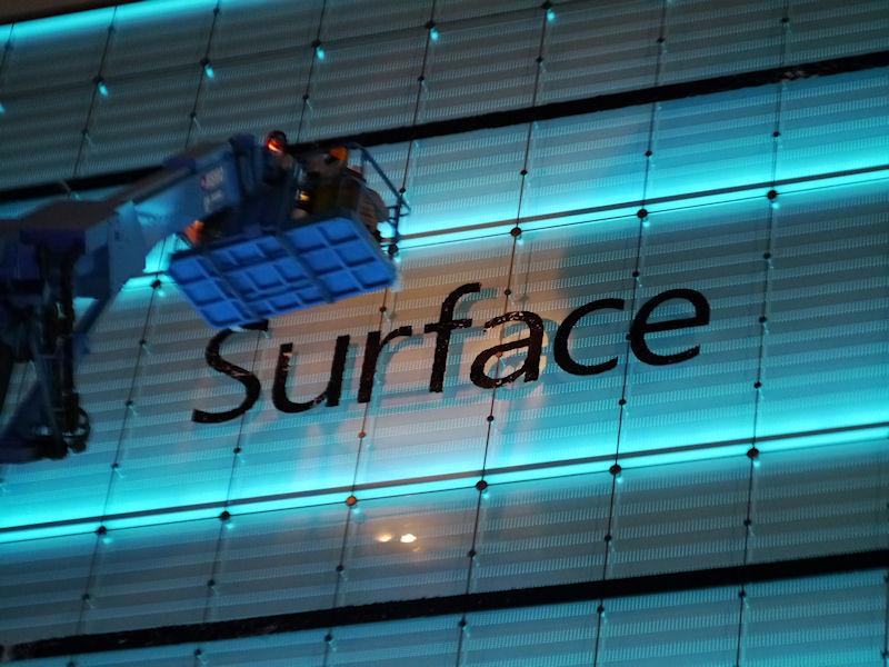 Surfaceのロゴが日本で初めて掲示さたところ