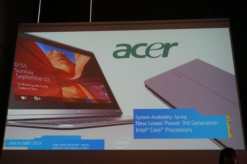 CESで発表されたAcer Aspireシリーズの新しいハイブリッドPC
