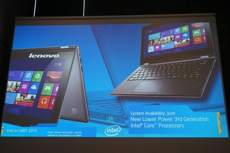 CESで発表されたLenovo IedaPad Yoga11のIntel製CPU搭載版
