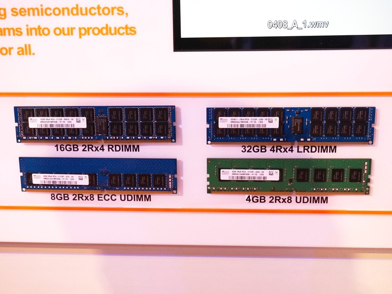SK Hynixが試作したDDR4のDIMMモジュール