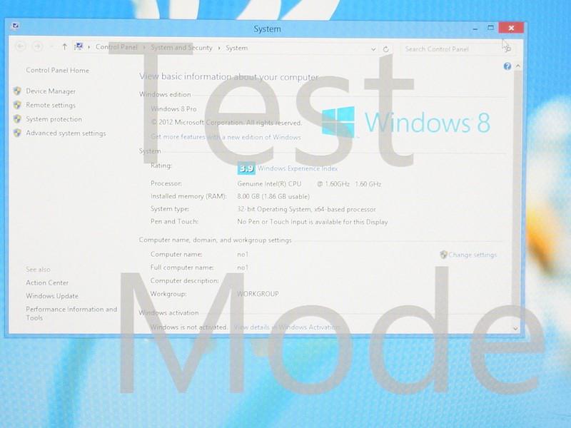 ASUSのネットブックに組み込まれたBay Trail-M。Windowsのエクスペリエンスインデックスは3.9と現行のClover Trailに比べて高めだった