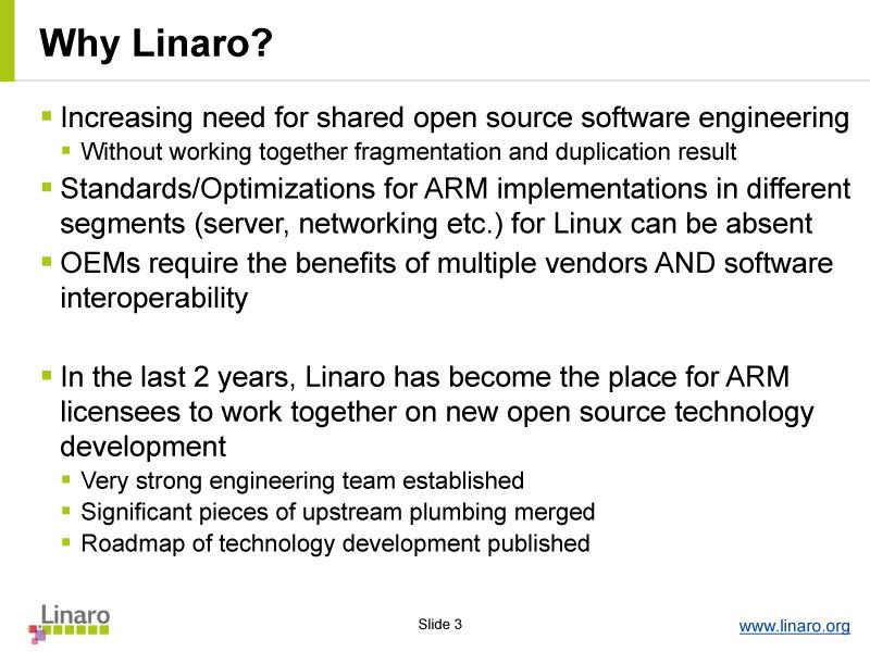 Linaro設立の理由