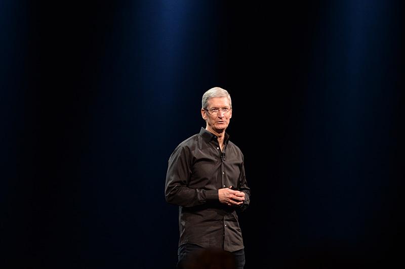 WWDCの基調講演を行なうティム・クックCEO
