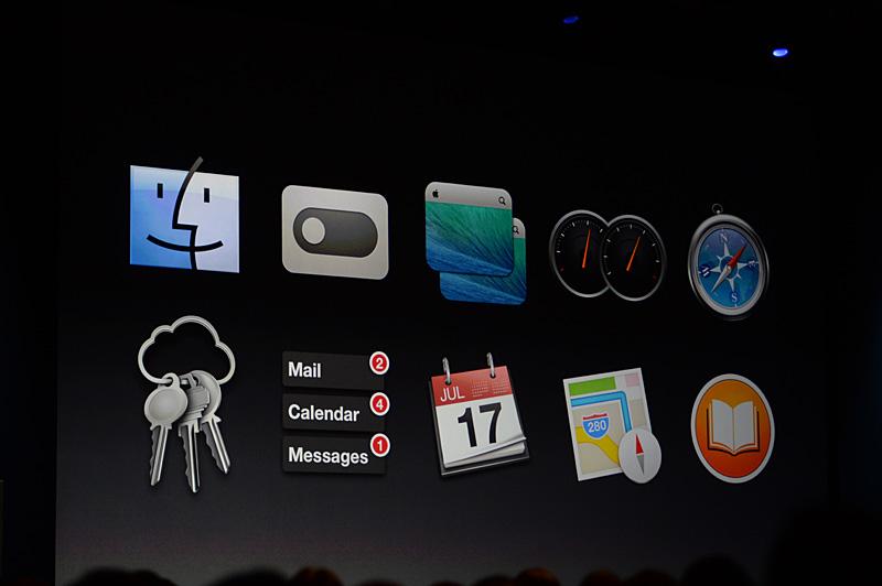 WWDCの基調講演でクローズアップされたOS X Mavericksの10の強化点。機能としては全体で200程度の変更点がある