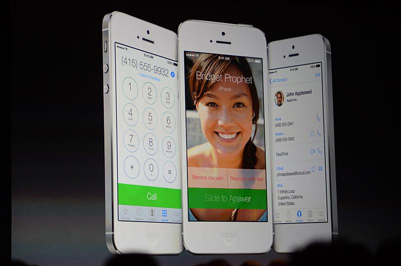 メッセージング、FaceTimeなどのスクリーンイメージ