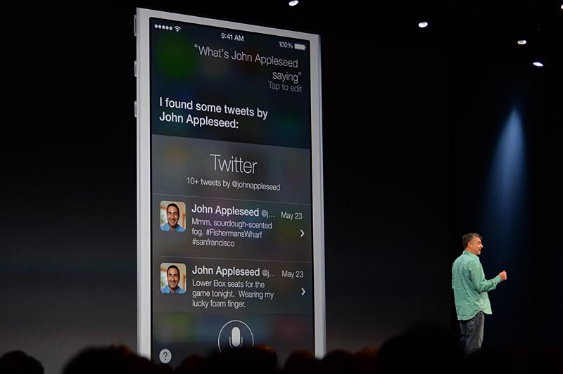 Siriによる検索機能で、Twitterアカウントに基づいたツイートの一覧を表示