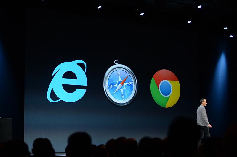 Webベースのため、Internet Explorer(9以降)やChromeを使ってiWorksドキュメントの編集ができる
