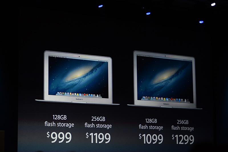米国におけるMacBook Airの販売価格。国内でも販売が始まっている