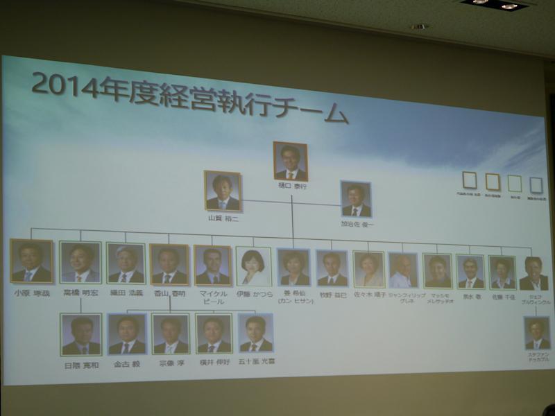 日本マイクロソフトの現在の執行体制。組織再編の影響は大きく受けない