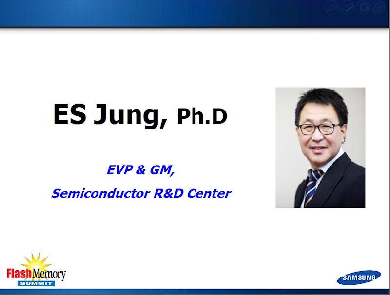 3D NANDフラッシュメモリの概要を説明したE. S. Jung氏(韓国Samsung Electronics Semiconductor R&D Centerのエグゼクティブバイスプレジデント兼ゼネラルマネジャー)