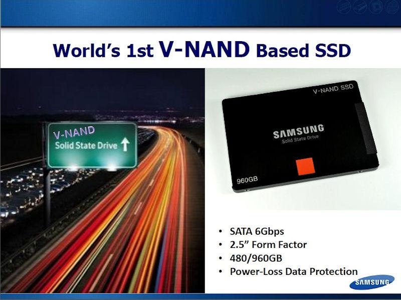 128Gbitの3D NANDフラッシュを内蔵したSSDの外観。記憶容量は480/960GB