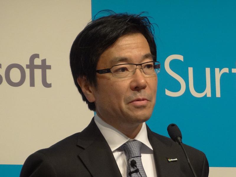 日本マイクロソフト樋口泰行社長