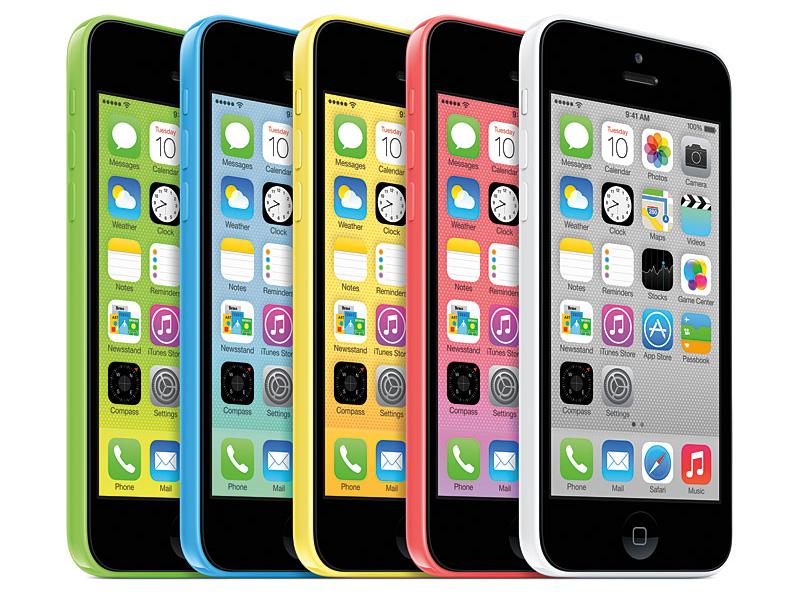 5色で展開されるiPhone 5c