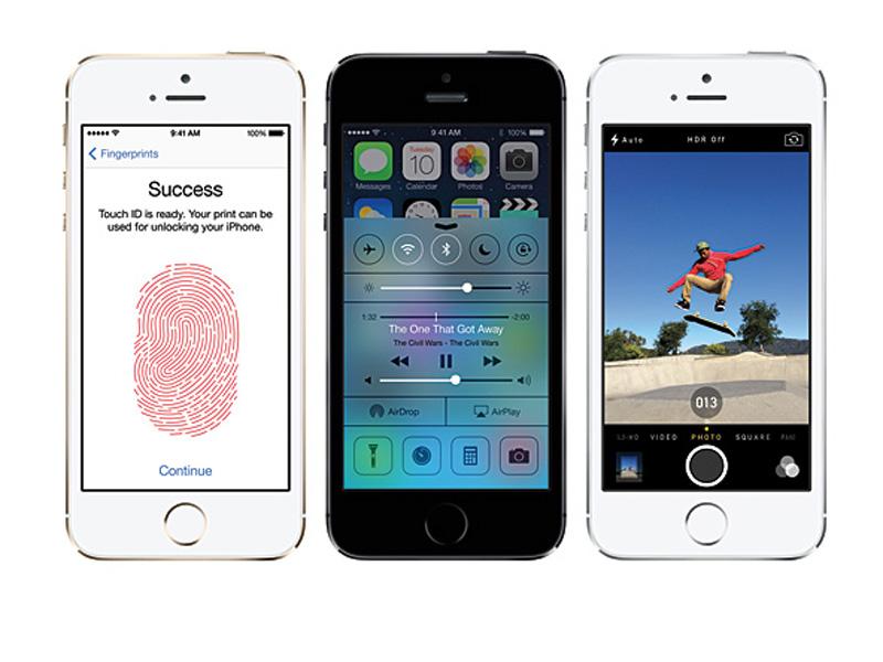 iOS 7、新しいカメラ機能、指紋認証機能を搭載するiPhone 5s