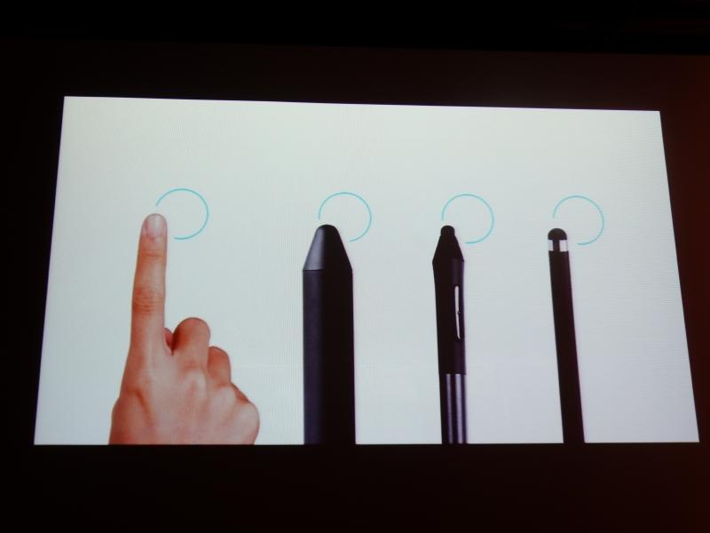 指やこれまでのタッチペンでは、太すぎてきれいな線を描きにくかったという