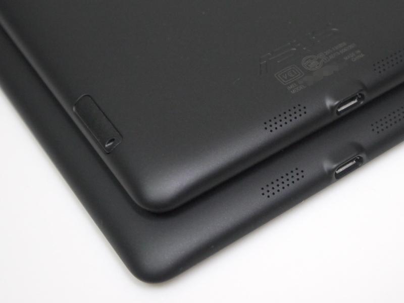 LTEモデルは側面にSIMカードスロットを備える。下はWi-Fiモデル