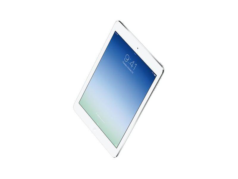 「iPad Air」。デザインがiPad miniとほぼ同一のものに変わった。従来モデルに比べてより薄く、軽い製品となっている
