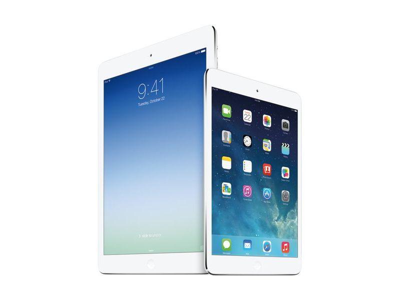 iPad Air(左)とiPad mini Retinaディスプレイモデル