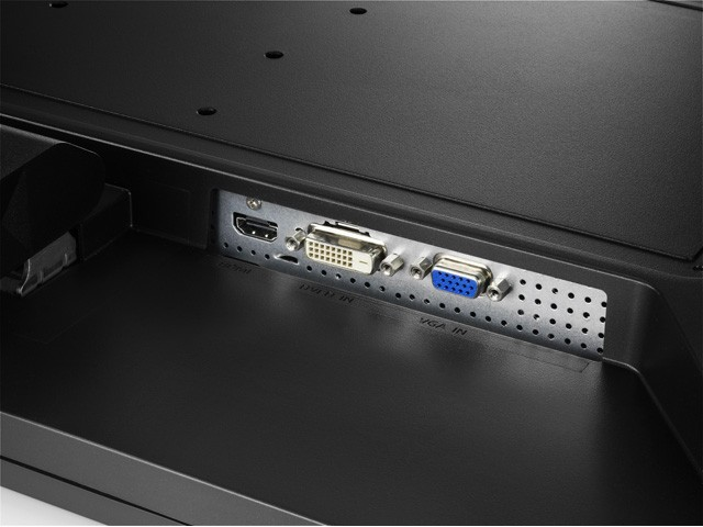 LCD-MF275XPBRの背面とインターフェイス