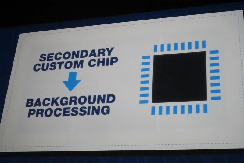 セカンダリのサブシステムチップ側でバックグラウンド処理を実行するという発表