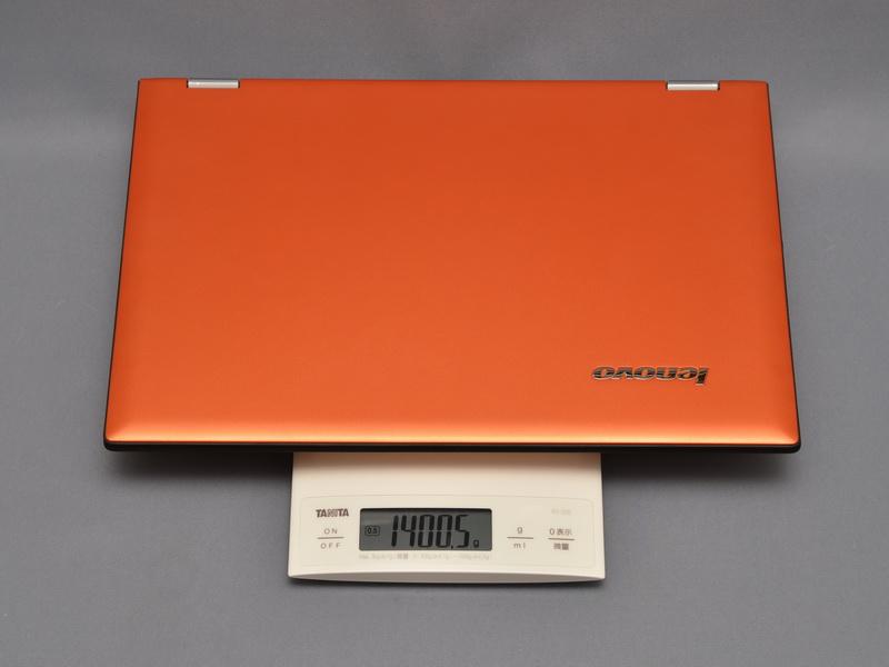 重量は実測で1,400.4gだった。公称値よりわずかに重かったが、従来モデルより100gほど軽くなっている